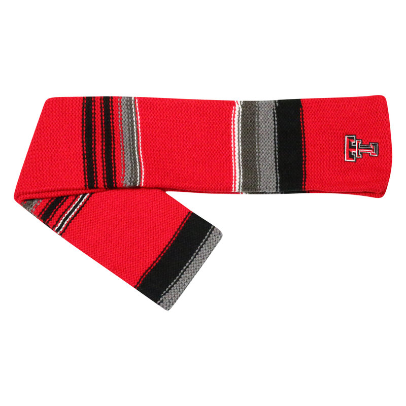 Iced Woven Scarf Red/Black/Grey