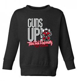 Guns Up Raider Red Crew Sweatshirt