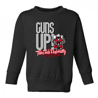 Guns Up Raider Red Crew Sweatshirt
