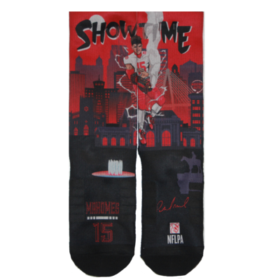 Mahomes Showtime Socks Size Med/Large