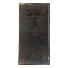 Brown Leather Long Wallet