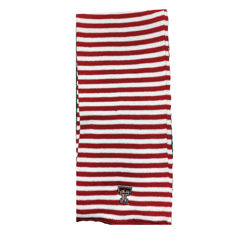 Beeline Microstripe Knit Scarf - Red/White