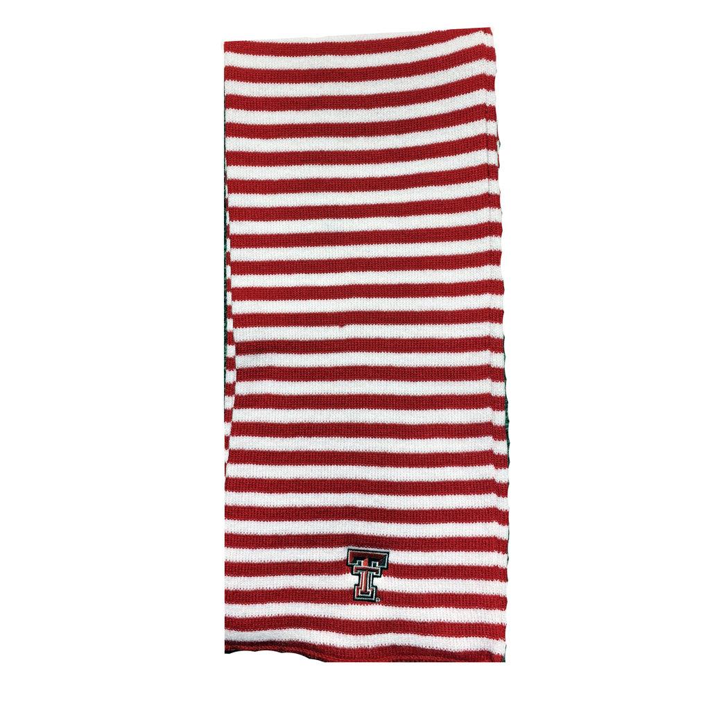 Beeline Microstripe Knit Scarf - Red/White