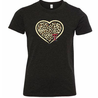 Cheetah Heart Short Sleeve Youth Tee