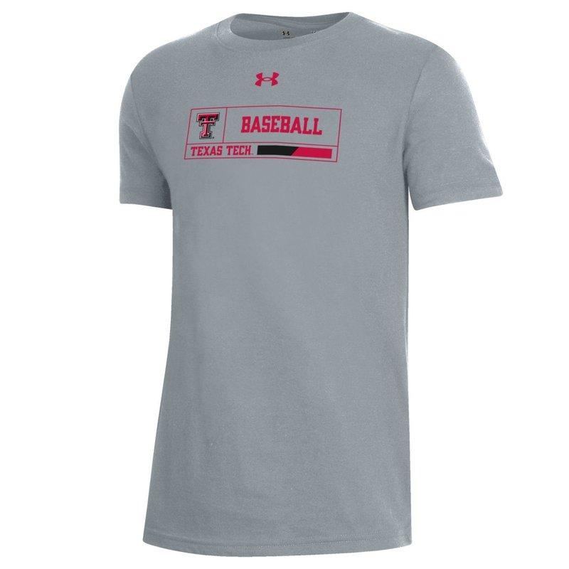Youth Baseball Outline Box Short Sleeve Tee
