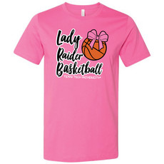 Lady Raider Pink Bow Short Sleeve Tee