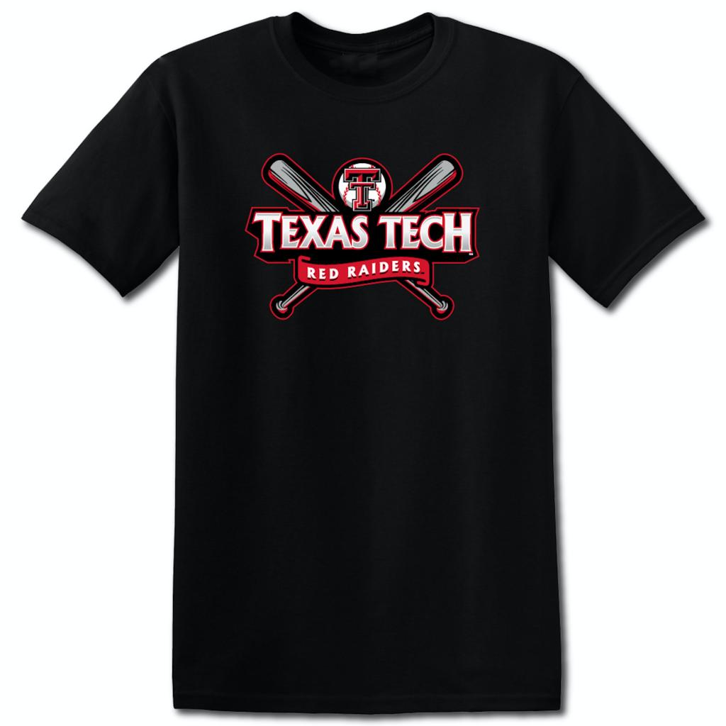 Crossed Bats Banner Baseball Short Sleeve Tee