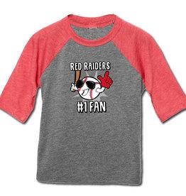 #1 Fan Baseball Toddler Raglan Tee