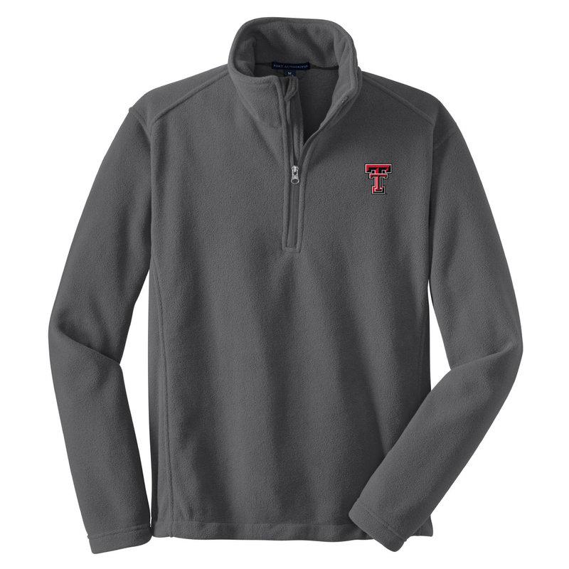 1/4 Zip Fleece Pullover Black