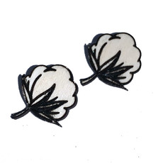 Simply Cam Co Cotton Bolls Earring