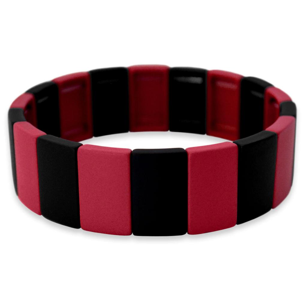 Red and Black Stretch Bracelet