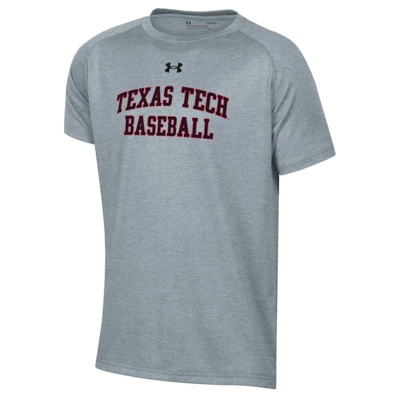 Under Armour Baseball College Block Youth Short Sleeve Tech Tee