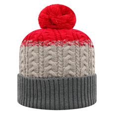 Disperse Combo Knit & Mitten Set Red/Grey