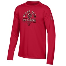 Under Armour Raider Red Baseball Youth Long Sleeve Tee