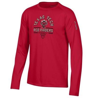 Raider Red Baseball Youth Long Sleeve Tee