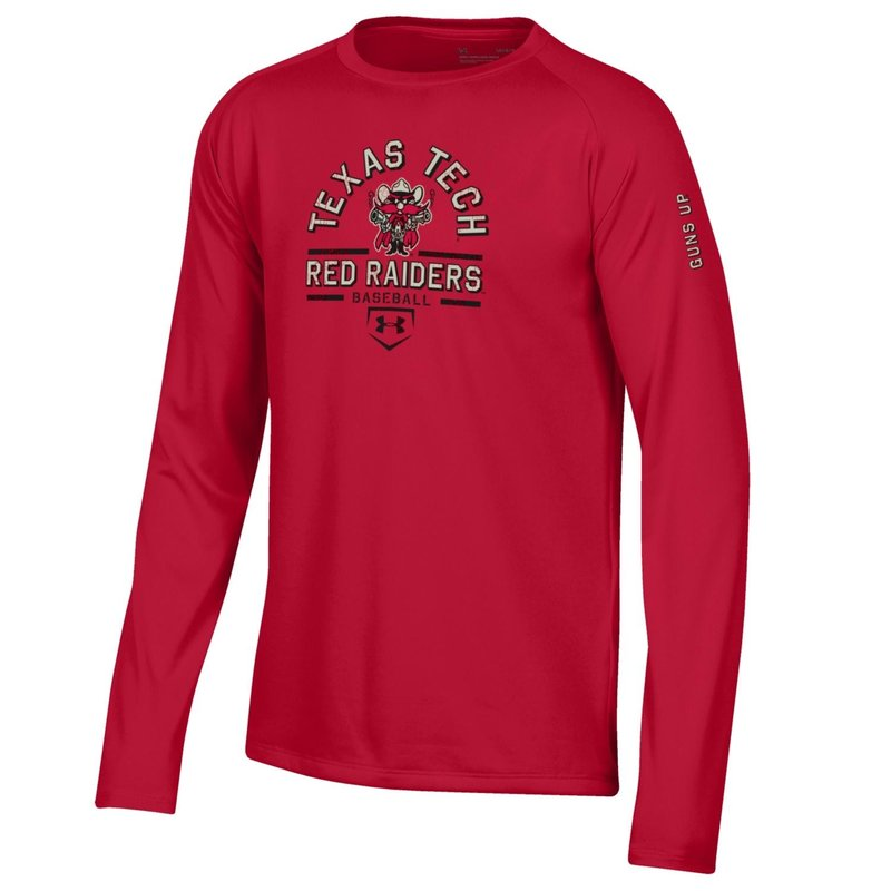 Raider Red Baseball Youth Long Sleeve Tee