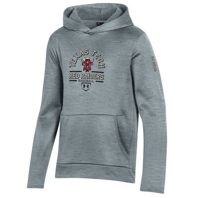 Under Armour Raider Red Baseball Youth Fleece Hoody