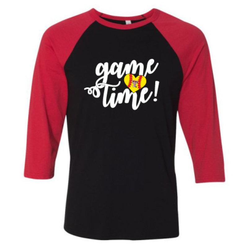 Game Time Softball Raglan 3/4 Tee