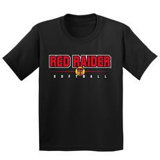 Red Raider Softball Short Sleeve Youth Tee