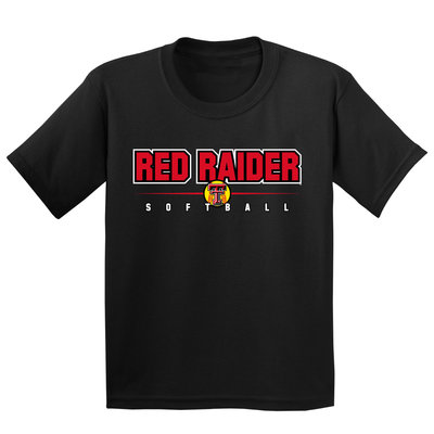 Red Raider Softball Short Sleeve Youth Tee