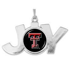 Joy Double T Silver Ornament
