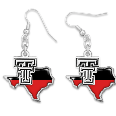 Tara Red & Black Texas Earrings