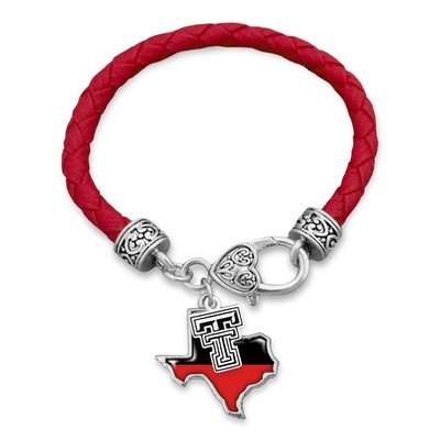 Tara Red & Black Texas Rope Bracelet