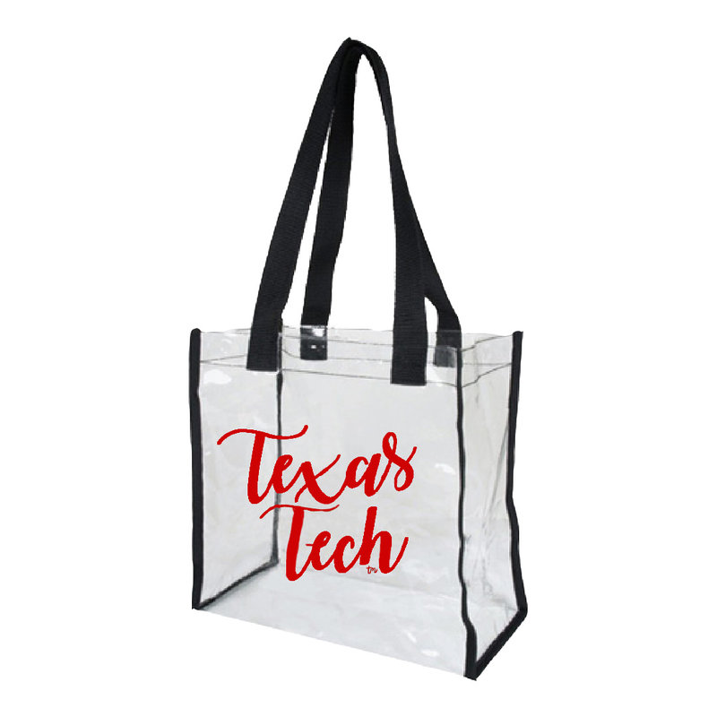 Game Day Bag - Clear/Black/Red Texas Tech
