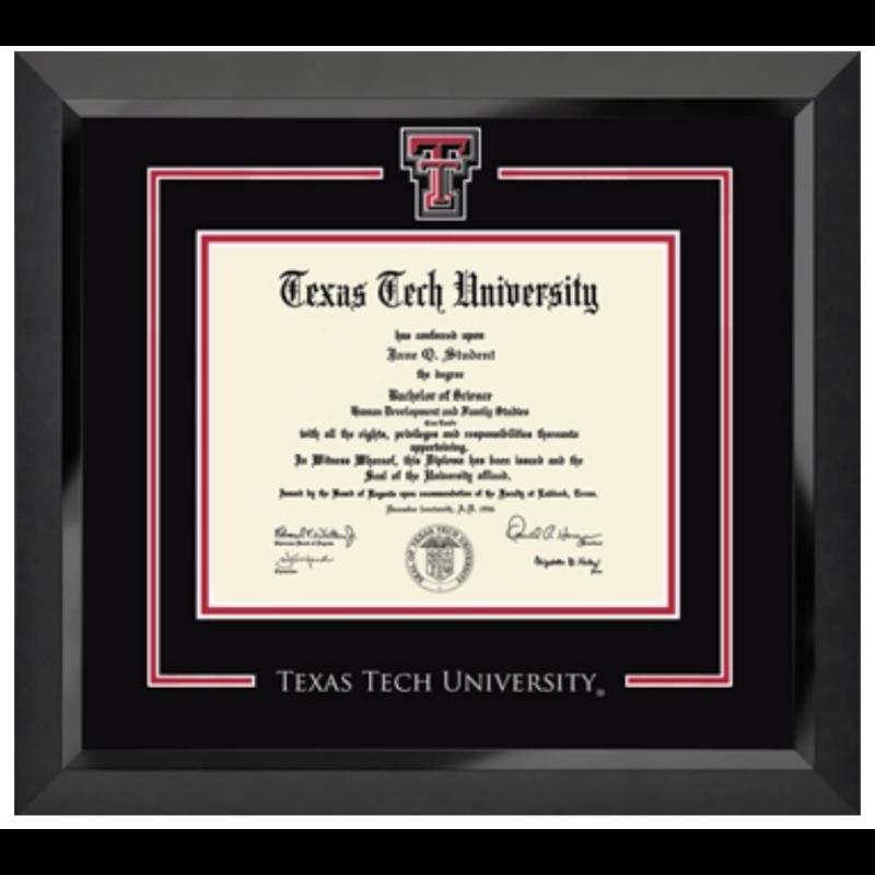Spirit Double T Diploma Frame
