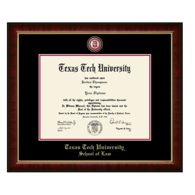 School of Law Masterpiece Diploma Frame