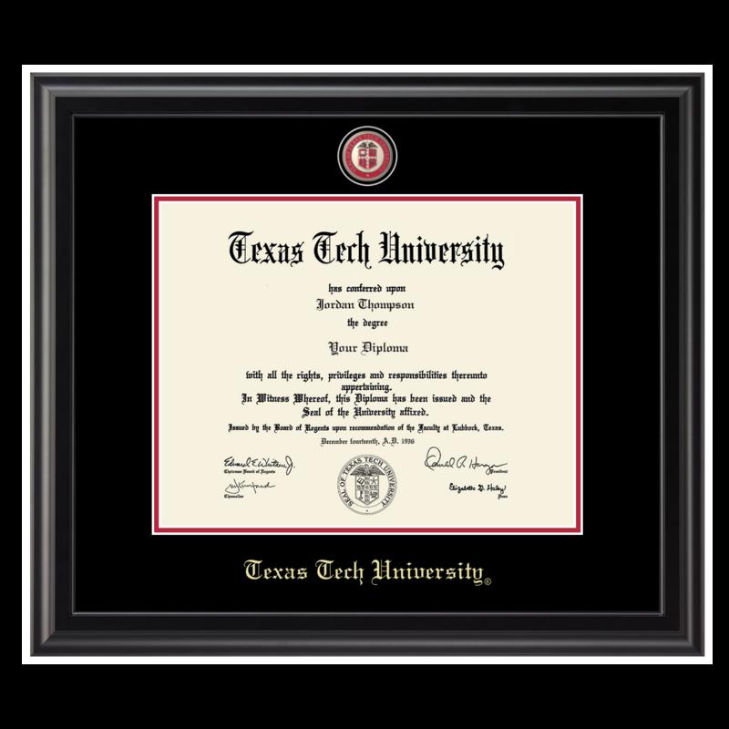 Diploma Frame Medallion Black Frame