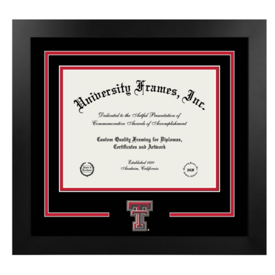 Classic Ebony & Silver Diploma Frame