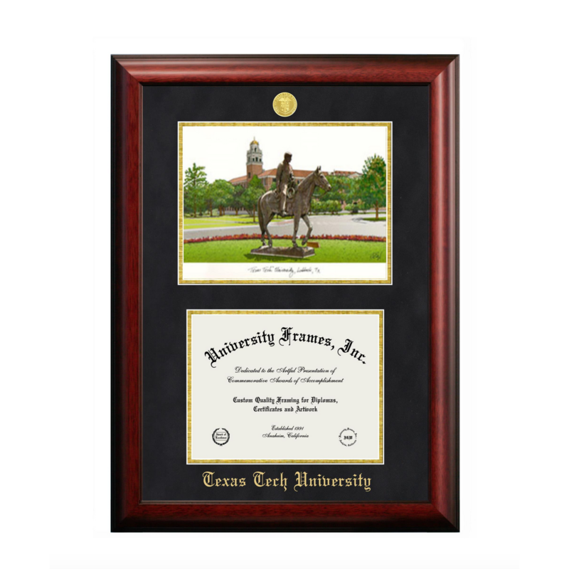 Lithograph Medallion Diploma Frame - $289.95