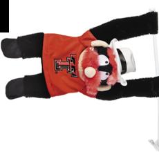 Raider Red Mascot Car Flag