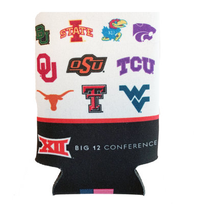 Big 12 12 oz Coozie with Mascots