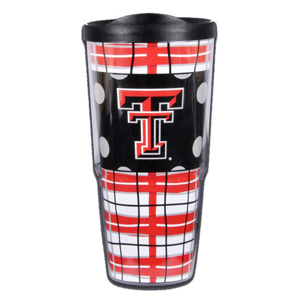 Plaid & Dot 24oz Tumbler