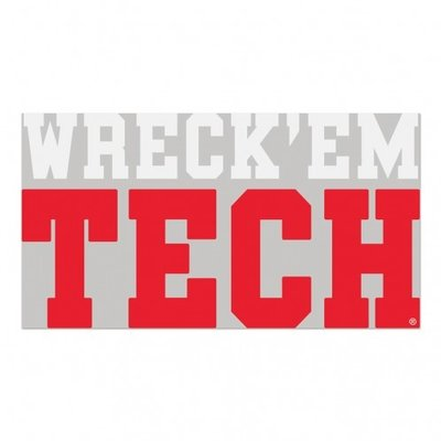 """Wreck Em Tech Stacked Decal 4""""x7"""""""