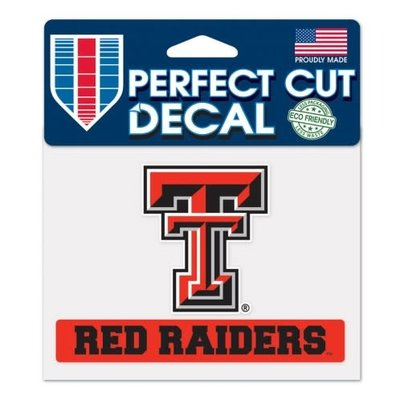 Clear Double T Decal Red Raiders