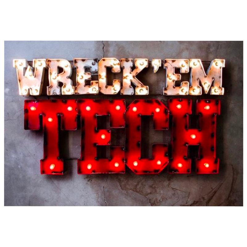 """Lighted Metal Wall Art """"Wreck Em"""""""