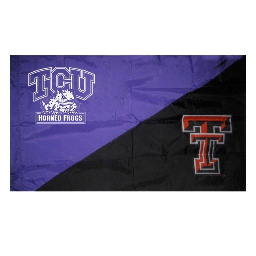 3' x 5' House Divided TCU/TTU Flag
