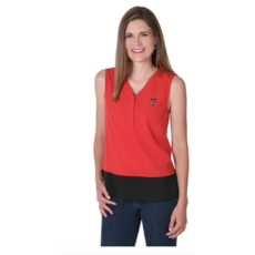 Ladies Colorblock Sleeveless Tunic Tank