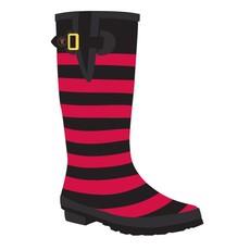 Texas Tech Red Black Striped Rain Boots