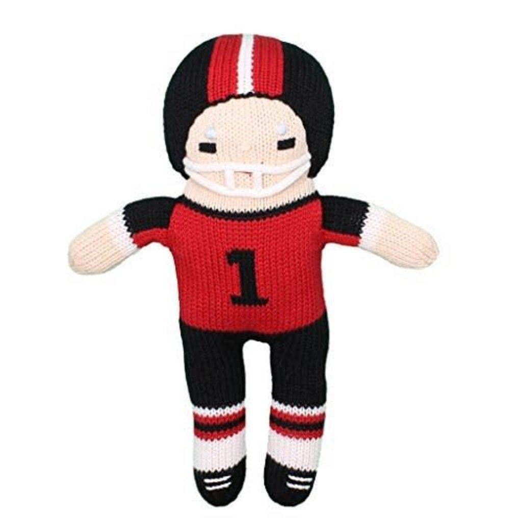 """Knit 7"""" Football Player Toy"""