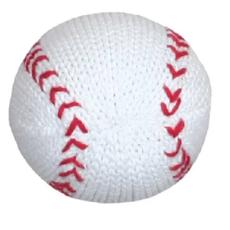 Infant Knit Baseball Rattle