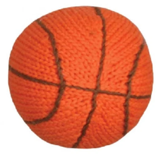 Infant Knit Basketball Rattle