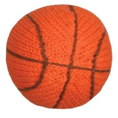 Infant Knit Basketball Rattle