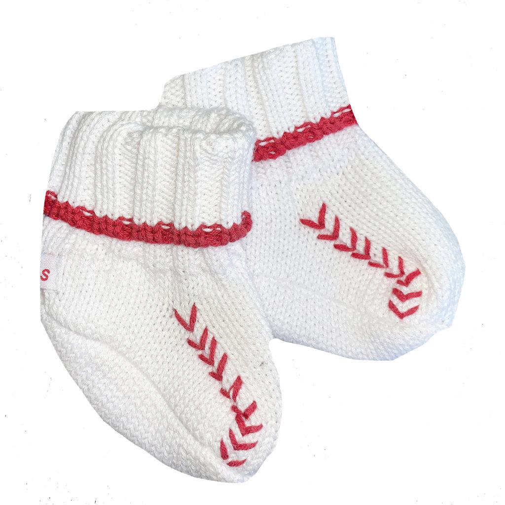 Knit Baseball Bootie