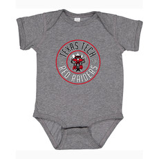 Raider Red Round Infant Onesie