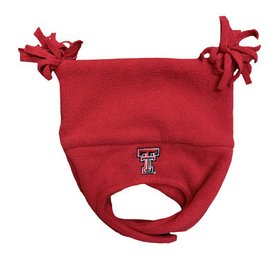 Elf Toddler Two Tassel Hat with Chin Strap Red