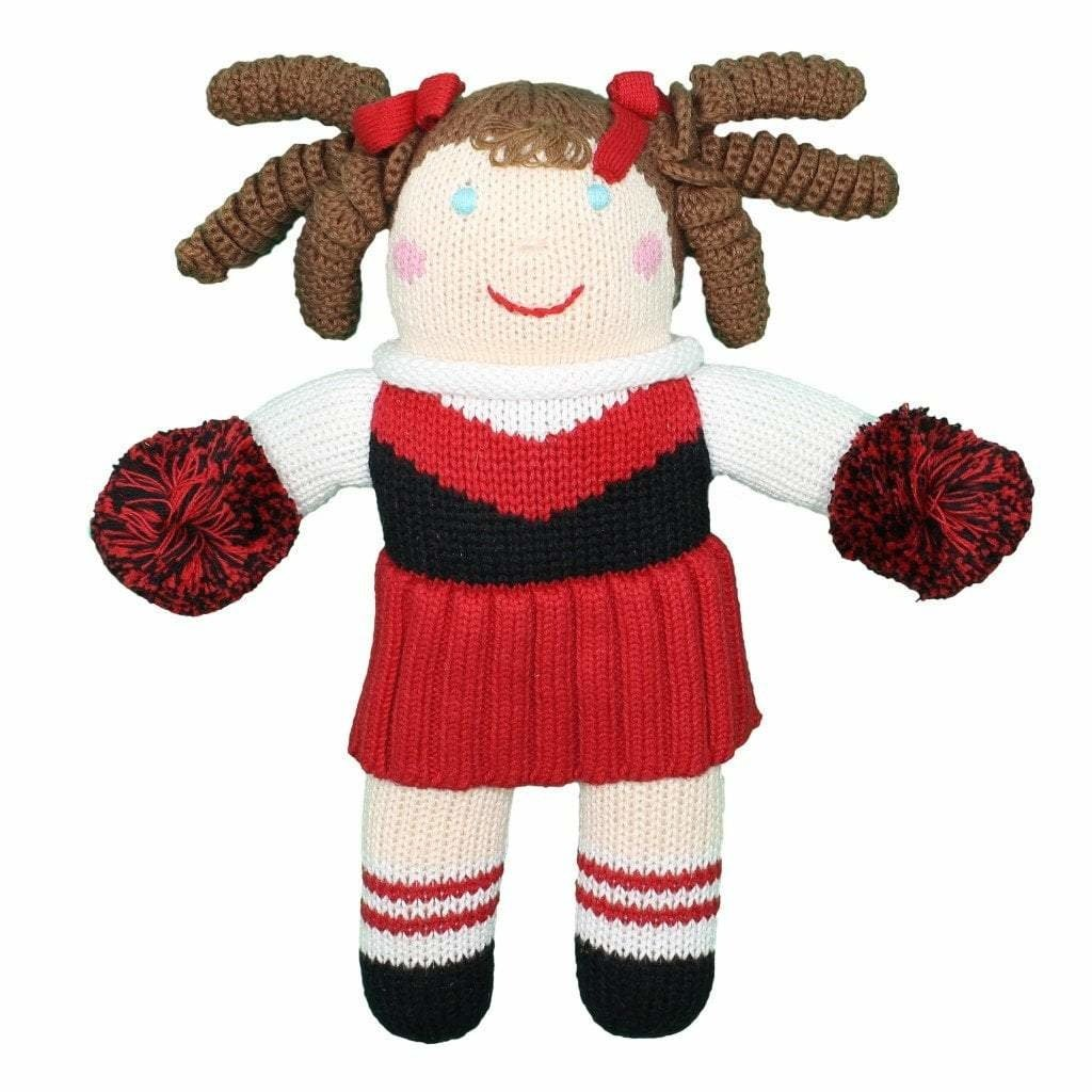 """Knit 12"""" Cheerleader Toy"""